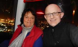 neil and liz on the emirates air line