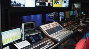 broadcast control room furniture example at JCB Presentation Theatre