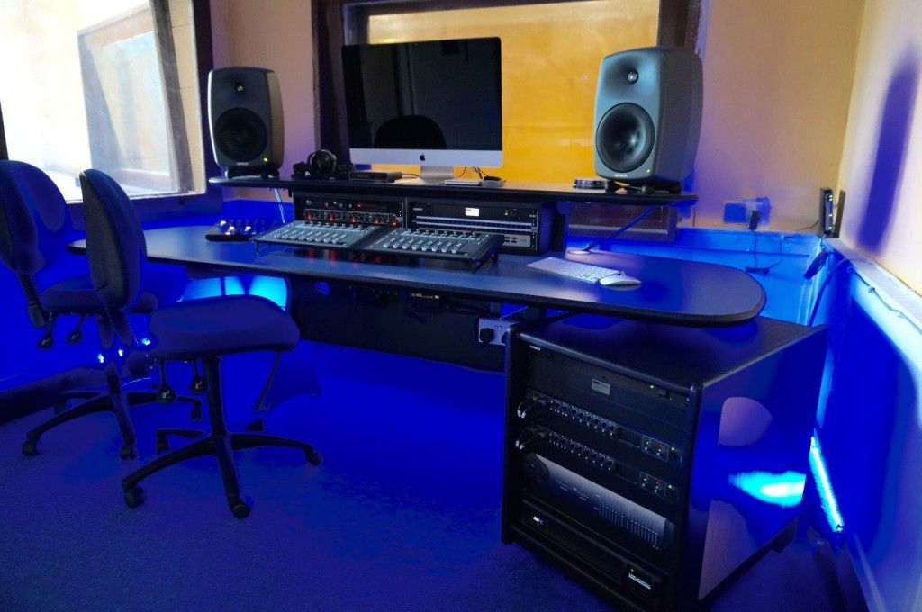 audio studio media desk