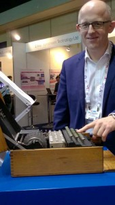 Neil at IBC enigma stand